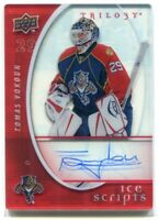 2008-09 Upper Deck Trilogy Ice Scripts TV Tomas Vokoun Auto