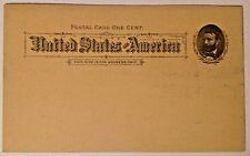 UX10 PC6 One Cent Vintage Postal Card Postcard Stationary 1891