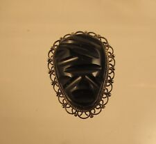 Onyx and Sterling Broach Mexico  @ A Village Coin Bullion 5/1/4 B