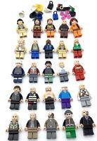 LEGO LOT OF 25 MINIFIGURES FLESH TONE PEOPLE MODERN CITY STAR WARS MIX