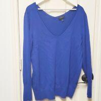 Lane Bryant Blue V Neck Sweater Size 18/20