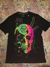 PHILIPP PLEIN T SHIRT MULTICOLOR BRILLANTINATA ALL SIZE BLACK