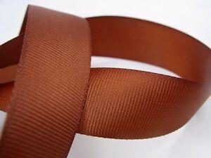 Matte Brown Grosgrain Ribbon - 25 metre length for Full reel. Widths: 10mm 25mm