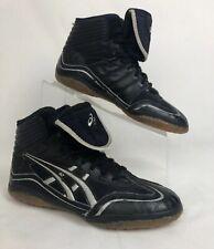 Vintage Asics Jy302 Wrestling Shoes Mens Us Size 7 Black Silver Rare