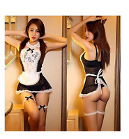 Sexy/Sissy Women Maid Lingerie Costume Cosplay Outfit Fancy Dress G-string S-3XL