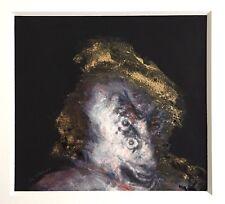 Giraud Jean-Luc Aquarelle, poudre dorée, tirage image num signée art abstrait