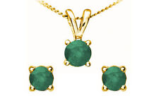 Emerald Yellow Gold Fine Jewellery Sets
