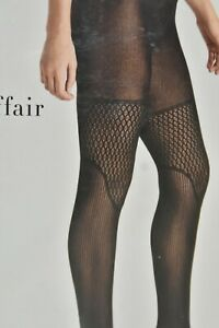 $67 NEW Wolford ELECTRIC AFFAIR TIGHTS Matte Finish Black Net XS