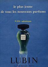 PUBLICITE PARFUM LUBIN GIN FIZZ LE PLUS JEUNE DE 1956 FRENCH AD ADVERT PRINT PUB