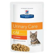 Hills Prescription Cat Food C/D Urinary Care 35x Pouches - Salmon And Chicken