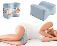Home Spa Knee Pillow Velvet Foam Orthopedic Contour Knee Hips Thigh Back Relief