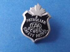 CAA SCHOOL SAFETY PATROL PATROLLER PIN VINTAGE BADGE CANADIAN AUTOMOBILE ASSOC