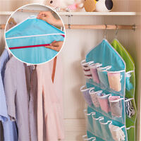 HOT 16 Pockets Clear Over Door Hanging Bag Shoe Rack Hanger Storage Organizer