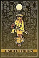 Hard Rock Cafe Philadelphia Pin Pirate Girl Skull Guitar 2019 LE New # 490603