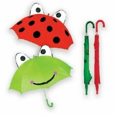 Childrens Kids Funky Animal Styled Frog/Ladybird Rain School Automatic Umbrella