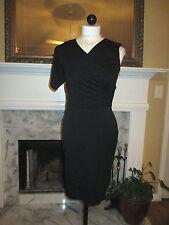 Chic! TED BAKER LONDON One Sleeve Gathered Waist Black Dress NWOT 1 (4 US)