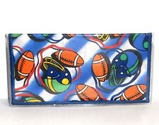 Football & Helmets on Blue  Cotton & Vinyl Cotton #66 New Handmade