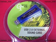 5.1 EXTERNAL USB 2.0 SOUND CARD FOR  PC & NOTEBOOK NEW - AUSSIE SELLER