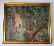SPENCER AS IS PROJECT PAINTING ANTIQUE MISSION CHURCH REGIONALISM WPA ERA VNTG