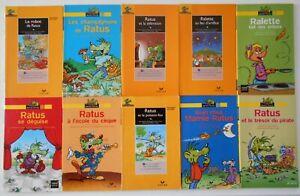 LOT de 10 Livres RATUS POCHE JAUNE Série Lecteurs Débutants 6 -7 ans HATIER