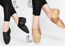 AU SELLER Jazz Dance Shoes Soft Genuine Leather Split Sole Child to Adult da010