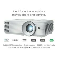 Optoma HD27E 1080p Home Cinema Projector with 3400 Lumens Brand New
