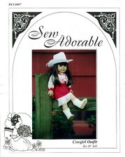 "Sew Adorable Doll Clothes Pattern, fits 18"" American Girl, Cowgirl Outfit"