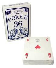 DAL NEGRO POKER BLEU Jeu 36 Cartes à jouer Rami Magique livré en accéléré.
