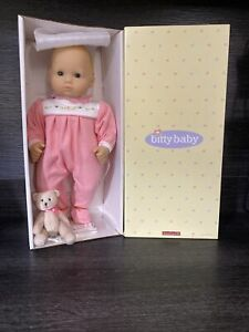 American Girl Bitty Baby Doll Light Skin Blonde Hair Green Eyes BB3A NEW Retired
