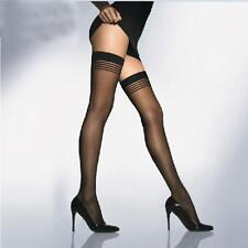 Stay-Up Fashion Women Pantyhose Stripes Stockings Thigh-highs