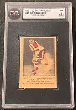 1951-52 Parkhurst #43 George Gee RC Rookie Card KSA 7 NM !