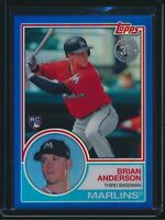 2018 Topps Series 2 1983 Silver Pack Blue Refractor Brian Anderson 148/150