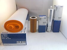 BMW X5 3.0 Diesel Service Kit Oil Air Fuel Filter 2003 to 2006 MAHLE 218BHP