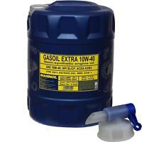 20 L MANNOL Motoröl Gasoil Extra 10W-40 API SL/CF Engine Oil Öl + Auslaufhahn