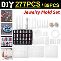 277PCS/89PCS DIY UV Resin Mold Set 2 Styles Resin Casting Molds Kit