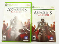 Microsoft XBOX 360 Assassins Creed II CASE & MANUAL ONLY No Game Disc