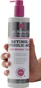 pH Factor 5.5 Retinol + Ferulic Acid Anti-Wrinkle Cream 16 Fl Oz (473mL)