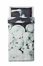 >Ikea Stunsig Single Quilt Cover & 2 Pillowcases - 'Black Rose' 803.760.99