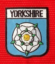 YORKSHIRE WHITE ROSE BADGE IRON SEW ON PATCH CREST ENGLAND YORK