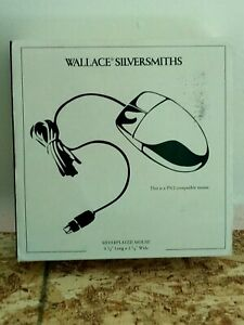 Wallace Silversmiths Silver Plated Mouse  - PS/2 Compatible w/ OG Mouse pad