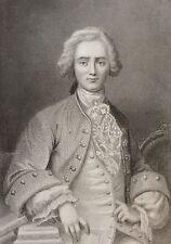 Sébastien Roch Nicolas de Chamfort estampe gravure sur acier XIXe France