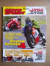 MOTOSPRINT n°49  2001    [Q22] SUPERBIKE TEST APRILIA RSV MILLE