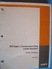 Case 590 Super L Construction King Loader Backhoe Parts Catalog Bur 8-9950 1995
