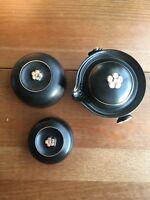 3pcs/set Chinese Travel Ceramic Tea Sets Portable Kung Fu Tea Pot,Cup with Bag