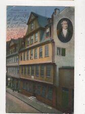 Frankfurt Am Main Goethe Geburtshaus Germany 1922 Postcard 952a