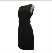 Tory Burch Size 10 Sleeveless Black Wool Knit Sheath Dress