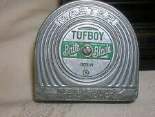 Vintage Tufboy Brite Blade Master Tape Measure Inches