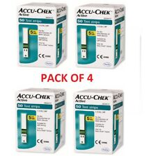 PACK OF 4, ACCU-CHEK Active N50 Strips Expiration 11/2019
