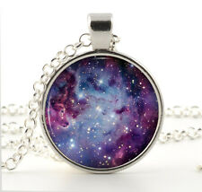 Fox Fur Nebula Necklace - Purple Galaxy Pendant Space Jewelry - Gifts for Girls