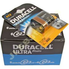 DURACELL 223 batterie ultra CR223 DL223 CR-P2 6V CRP2